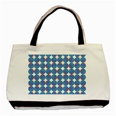 Geometric Dots Pattern Rainbow Basic Tote Bag