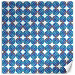 Geometric Dots Pattern Rainbow Canvas 16  x 16
