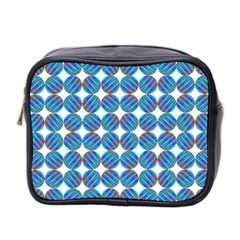 Geometric Dots Pattern Rainbow Mini Toiletries Bag 2 Side