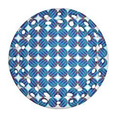 Geometric Dots Pattern Rainbow Ornament (Round Filigree)