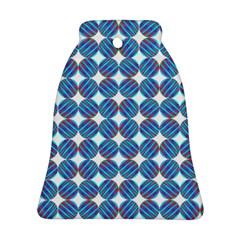 Geometric Dots Pattern Rainbow Ornament (Bell)