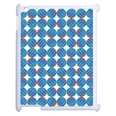 Geometric Dots Pattern Rainbow Apple Ipad 2 Case (white)