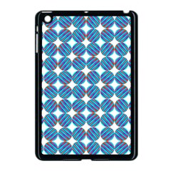 Geometric Dots Pattern Rainbow Apple Ipad Mini Case (black)