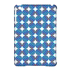 Geometric Dots Pattern Rainbow Apple iPad Mini Hardshell Case (Compatible with Smart Cover)