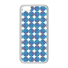Geometric Dots Pattern Rainbow Apple Iphone 5c Seamless Case (white)