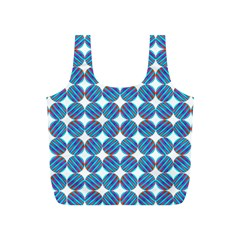 Geometric Dots Pattern Rainbow Full Print Recycle Bags (S)