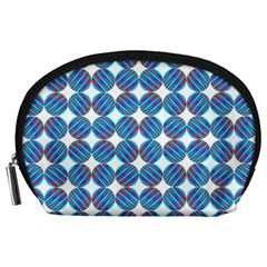 Geometric Dots Pattern Rainbow Accessory Pouches (large)