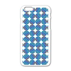 Geometric Dots Pattern Rainbow Apple Iphone 6/6s White Enamel Case