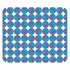 Geometric Dots Pattern Rainbow Double Sided Flano Blanket (small)