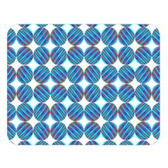 Geometric Dots Pattern Rainbow Double Sided Flano Blanket (large)