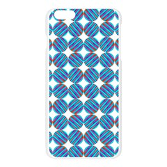 Geometric Dots Pattern Rainbow Apple Seamless iPhone 6 Plus/6S Plus Case (Transparent)