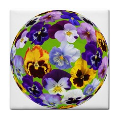 Spring Pansy Blossom Bloom Plant Tile Coasters