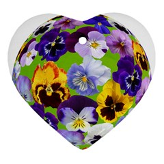 Spring Pansy Blossom Bloom Plant Ornament (heart)