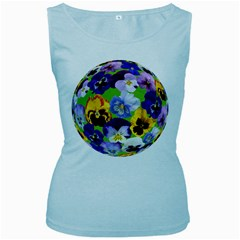Spring Pansy Blossom Bloom Plant Women s Baby Blue Tank Top