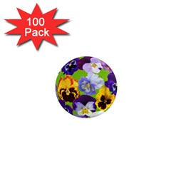 Spring Pansy Blossom Bloom Plant 1  Mini Magnets (100 Pack)