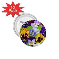 Spring Pansy Blossom Bloom Plant 1.75  Buttons (10 pack)