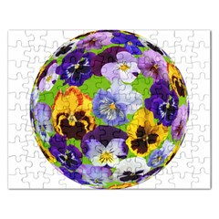 Spring Pansy Blossom Bloom Plant Rectangular Jigsaw Puzzl