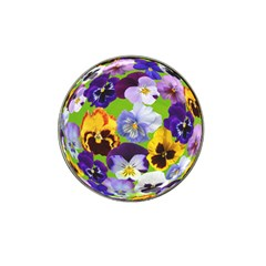 Spring Pansy Blossom Bloom Plant Hat Clip Ball Marker (10 Pack)