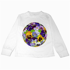 Spring Pansy Blossom Bloom Plant Kids Long Sleeve T Shirts
