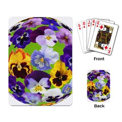 Spring Pansy Blossom Bloom Plant Playing Card