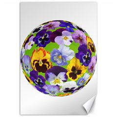 Spring Pansy Blossom Bloom Plant Canvas 12  x 18