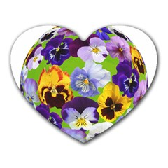 Spring Pansy Blossom Bloom Plant Heart Mousepads