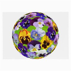 Spring Pansy Blossom Bloom Plant Large Glasses Cloth