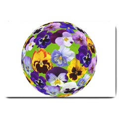 Spring Pansy Blossom Bloom Plant Large Doormat