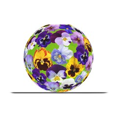Spring Pansy Blossom Bloom Plant Plate Mats