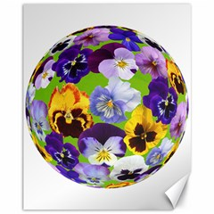Spring Pansy Blossom Bloom Plant Canvas 11  X 14