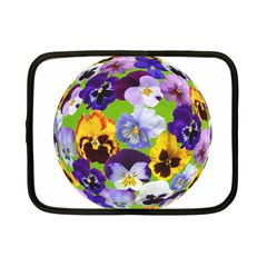 Spring Pansy Blossom Bloom Plant Netbook Case (Small)