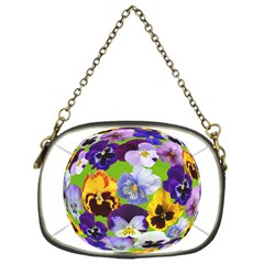 Spring Pansy Blossom Bloom Plant Chain Purses (one Side)
