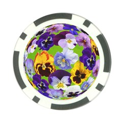 Spring Pansy Blossom Bloom Plant Poker Chip Card Guard (10 pack)