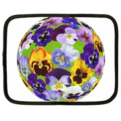 Spring Pansy Blossom Bloom Plant Netbook Case (xxl)