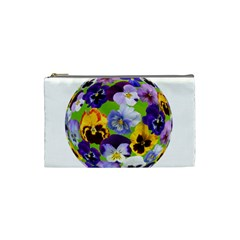 Spring Pansy Blossom Bloom Plant Cosmetic Bag (Small)