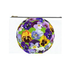 Spring Pansy Blossom Bloom Plant Cosmetic Bag (Large)