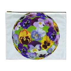 Spring Pansy Blossom Bloom Plant Cosmetic Bag (xl)