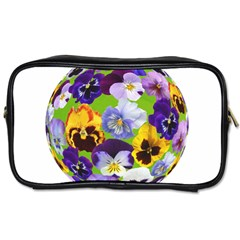 Spring Pansy Blossom Bloom Plant Toiletries Bags 2 Side