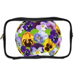 Spring Pansy Blossom Bloom Plant Toiletries Bags 2-Side Back
