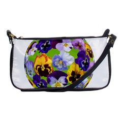Spring Pansy Blossom Bloom Plant Shoulder Clutch Bags