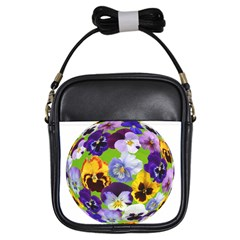 Spring Pansy Blossom Bloom Plant Girls Sling Bags