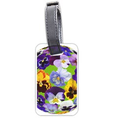 Spring Pansy Blossom Bloom Plant Luggage Tags (one Side)