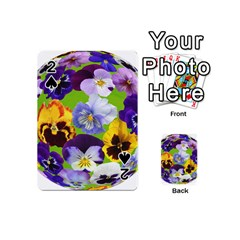 Spring Pansy Blossom Bloom Plant Playing Cards 54 (Mini)