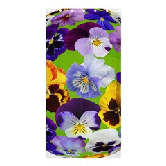Spring Pansy Blossom Bloom Plant Shower Curtain 36  x 72  (Stall)