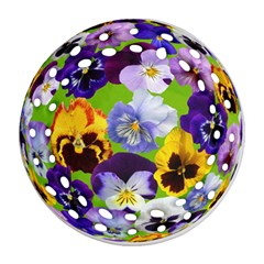 Spring Pansy Blossom Bloom Plant Ornament (round Filigree)