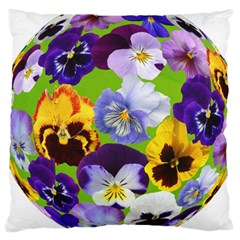 Spring Pansy Blossom Bloom Plant Large Cushion Case (Two Sides)