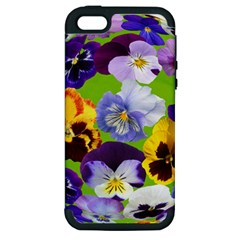 Spring Pansy Blossom Bloom Plant Apple iPhone 5 Hardshell Case (PC+Silicone)