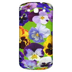 Spring Pansy Blossom Bloom Plant Samsung Galaxy S3 S III Classic Hardshell Back Case