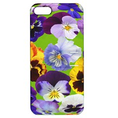 Spring Pansy Blossom Bloom Plant Apple Iphone 5 Hardshell Case With Stand