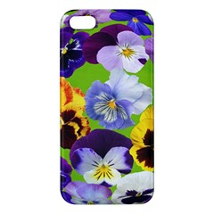 Spring Pansy Blossom Bloom Plant Apple Iphone 5 Premium Hardshell Case